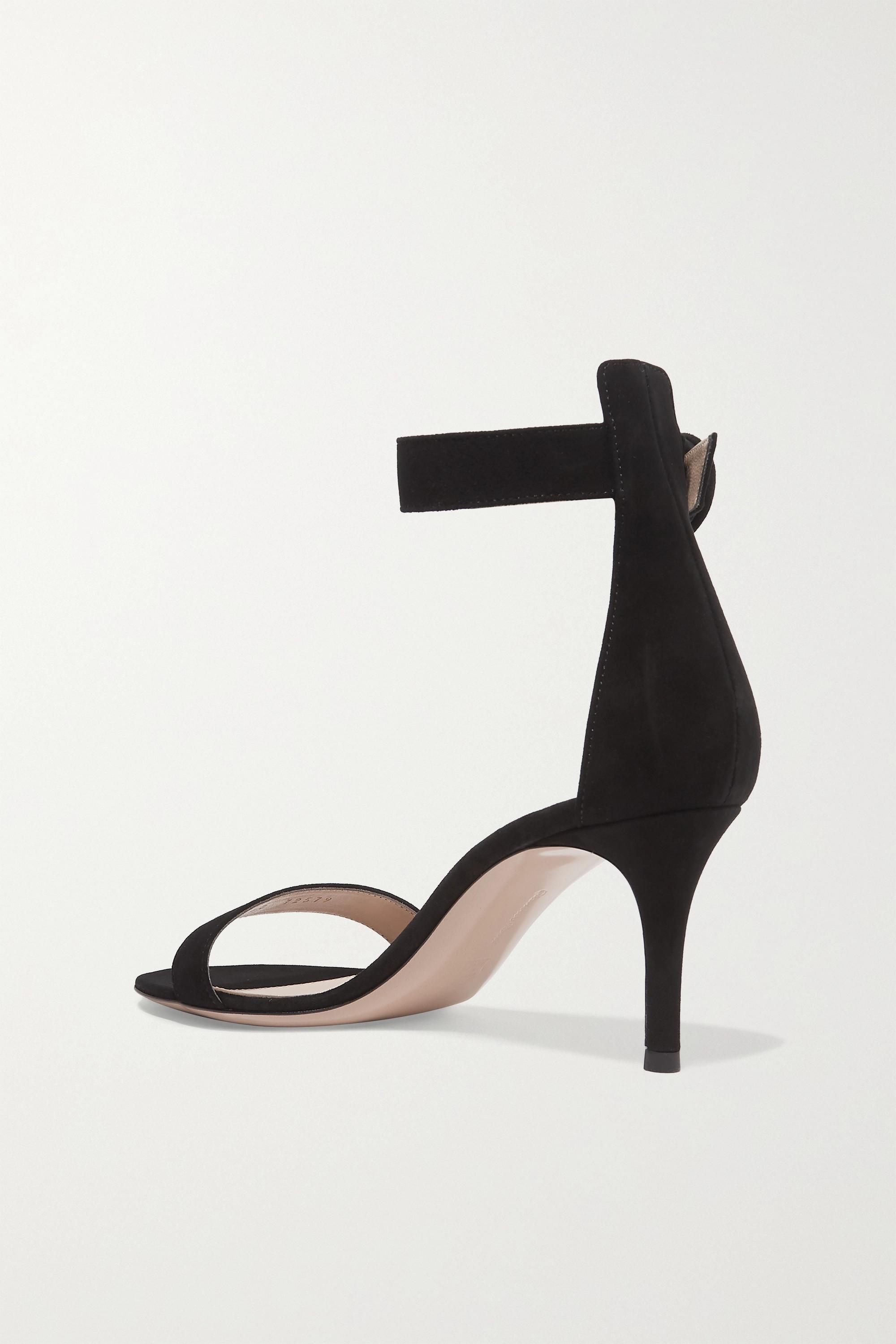 Gianvito Rossi Portofino 70 suede sandals