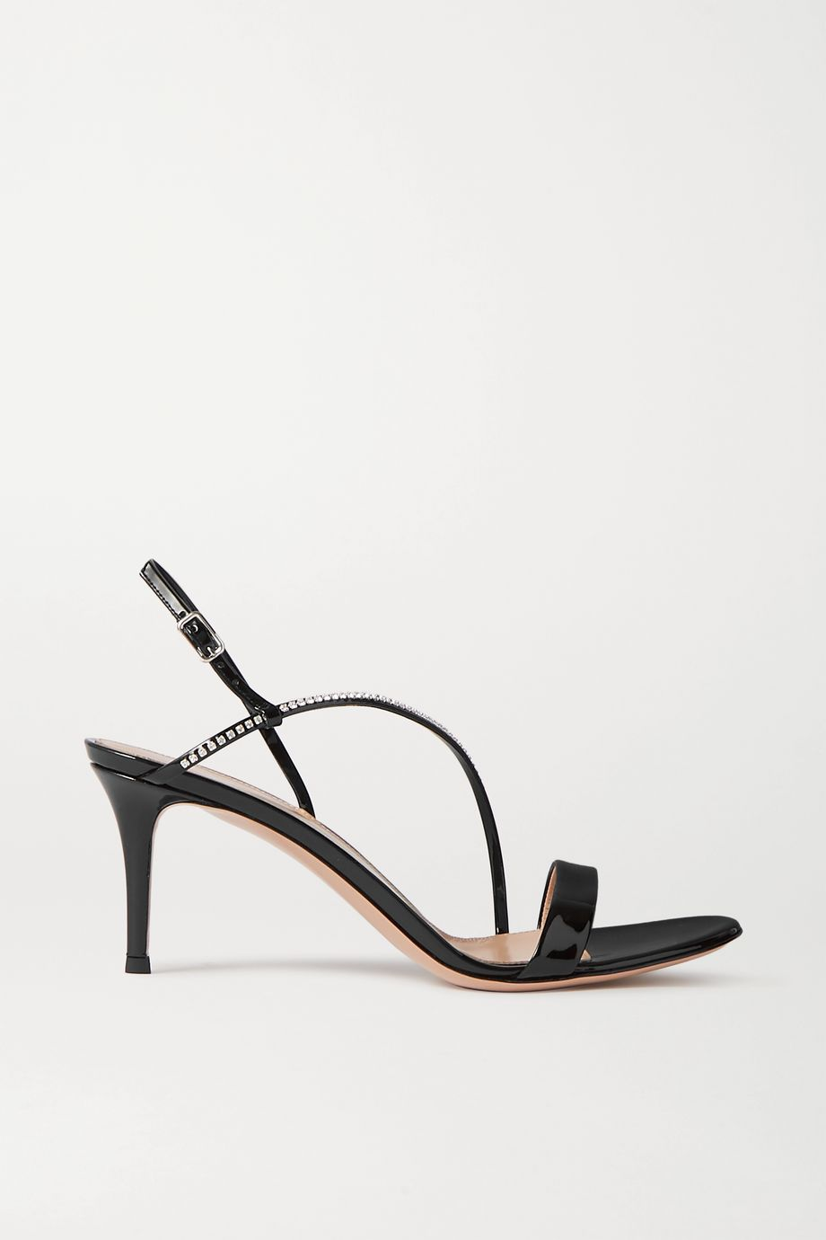 Gianvito Rossi Manhattan 70 crystal-embellished patent-leather sandals