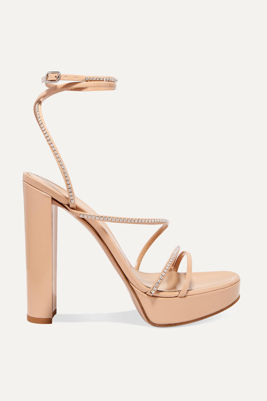 Gianvito Rossi 125 crystal-embellished patent-leather platform sandals