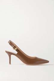Gianvito Rossi 70 leather slingback pumps