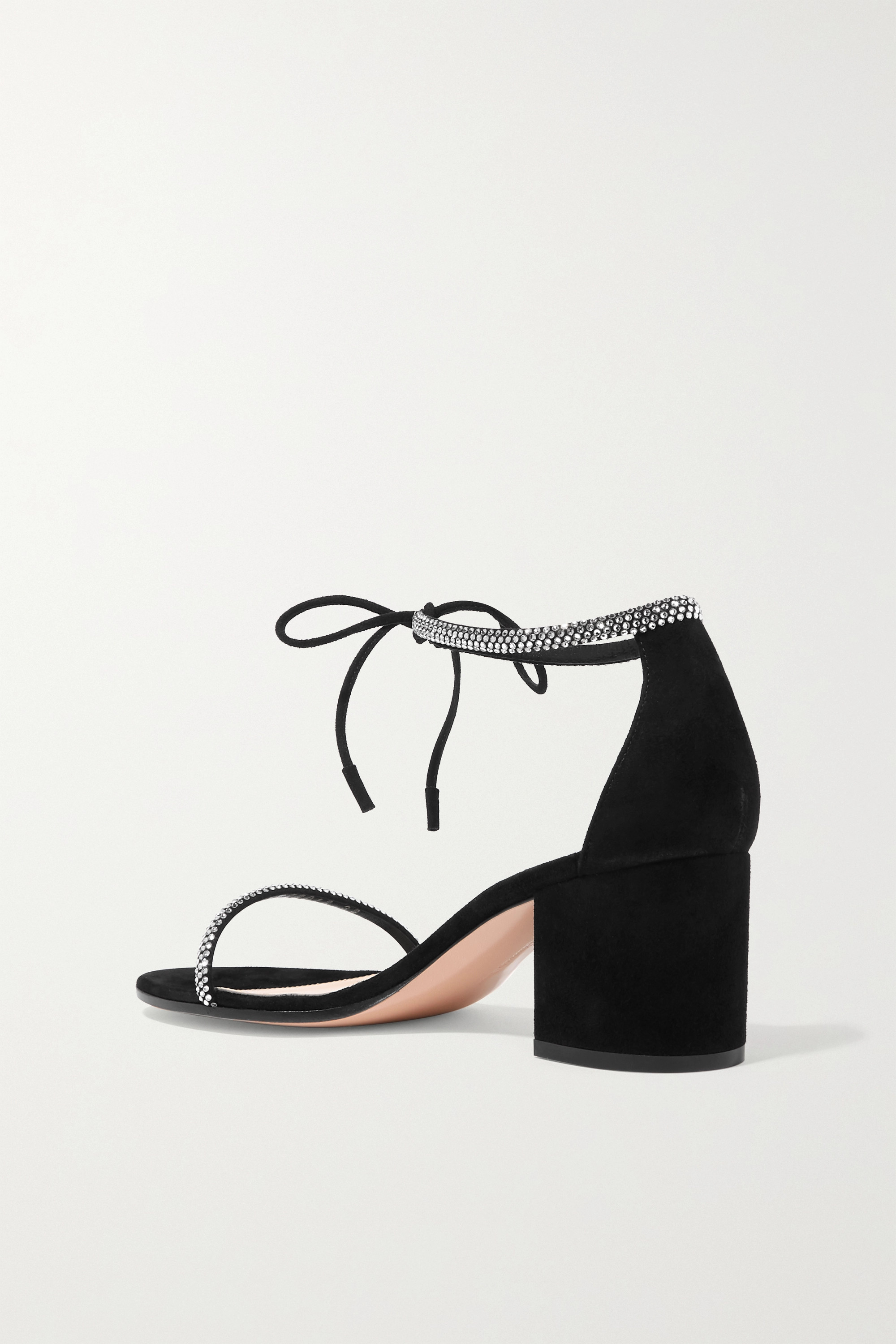 Gianvito Rossi 60 crystal-embellished suede sandals