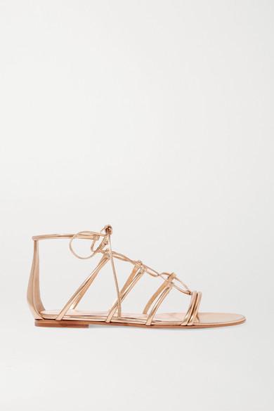 Gianvito Rossi Sandals Metallic leather sandals