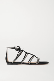 Gianvito Rossi Crystal-embellished suede sandals