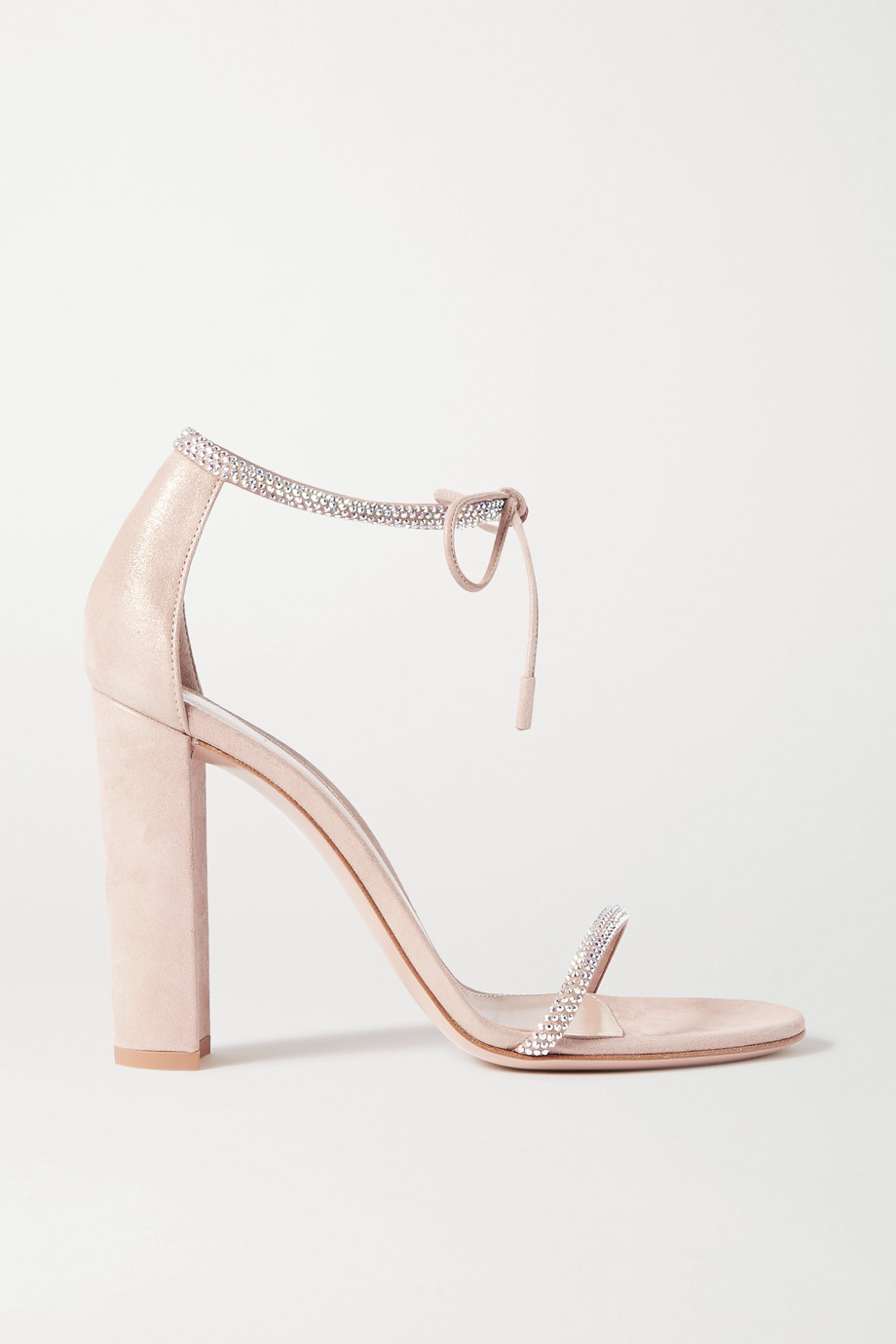 Gianvito Rossi 105 crystal-embellished suede sandals