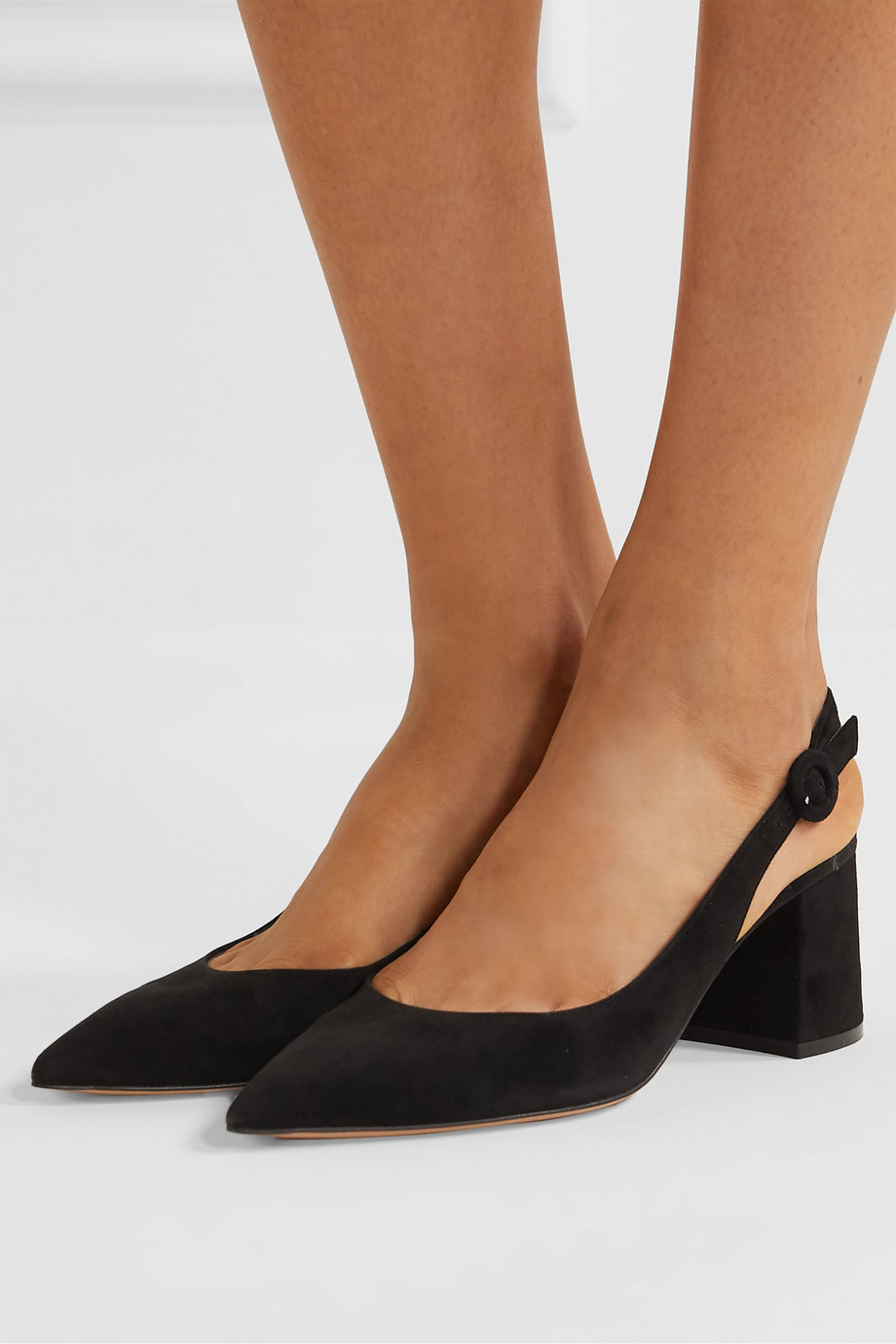 Gianvito Rossi 60 suede slingback pumps