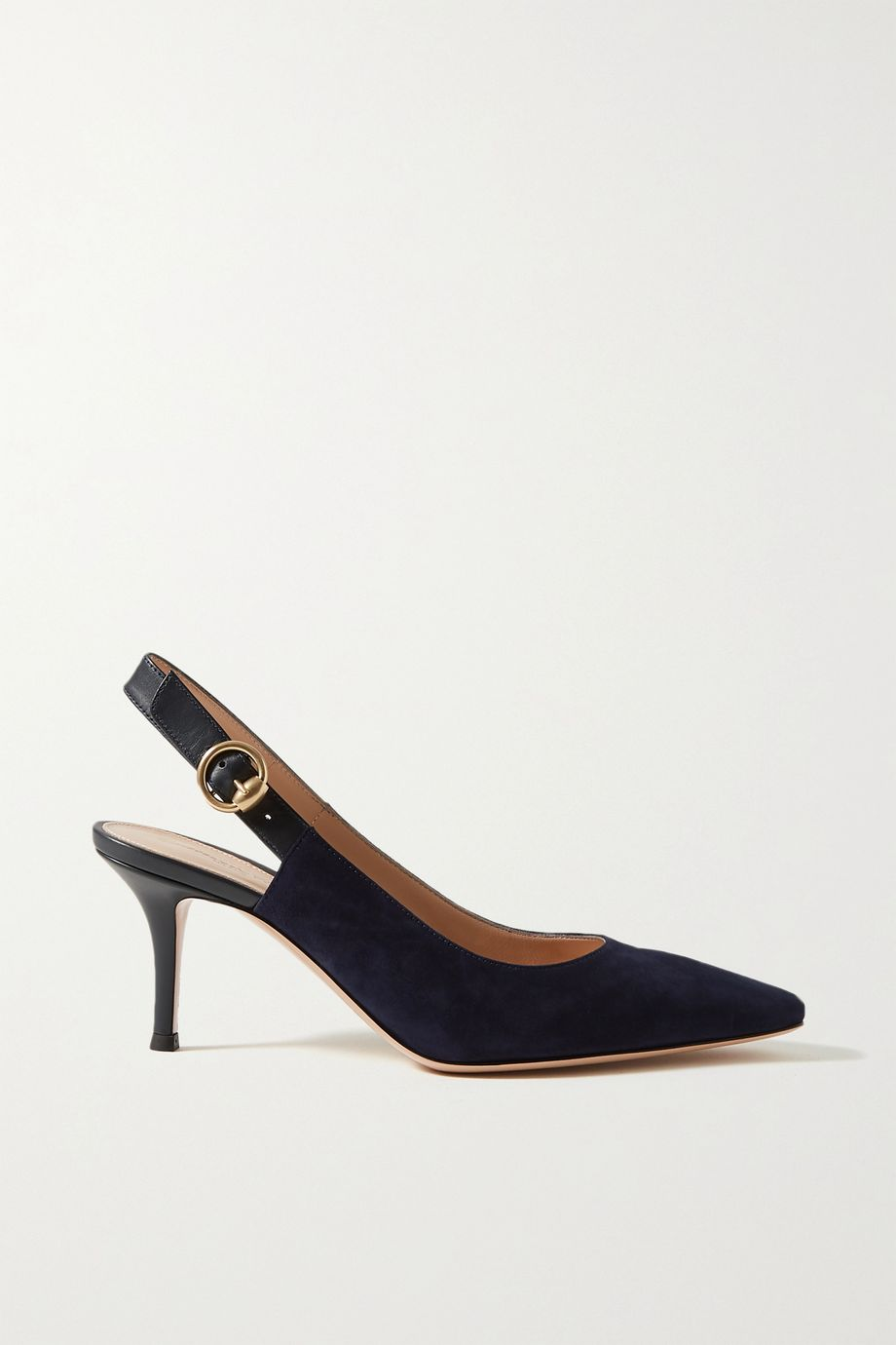 Gianvito Rossi 70 suede and leather slingback pumps