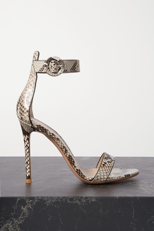 Gianvito Rossi Portofino 105 python sandals