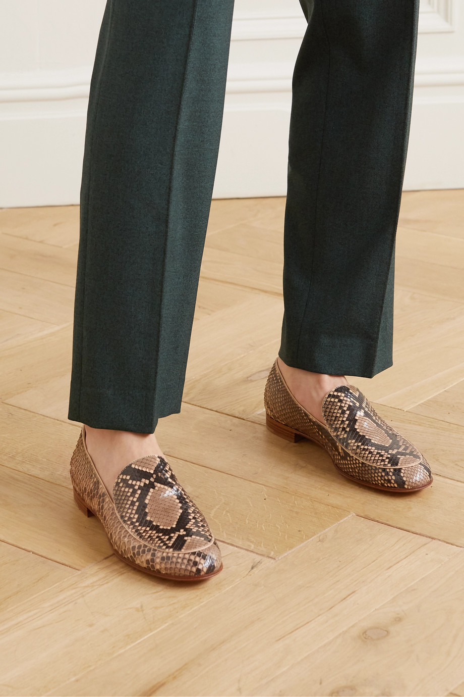 Gianvito Rossi Marcel python loafers