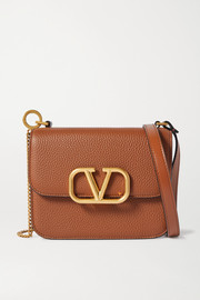 Valentino Valentino Garavani VSLING small textured-leather shoulder bag