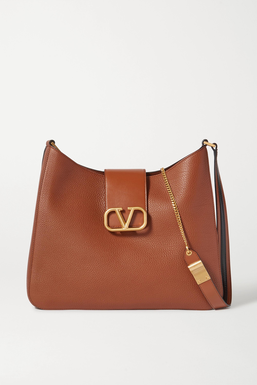 Vsling Textured Leather Shoulder Bag