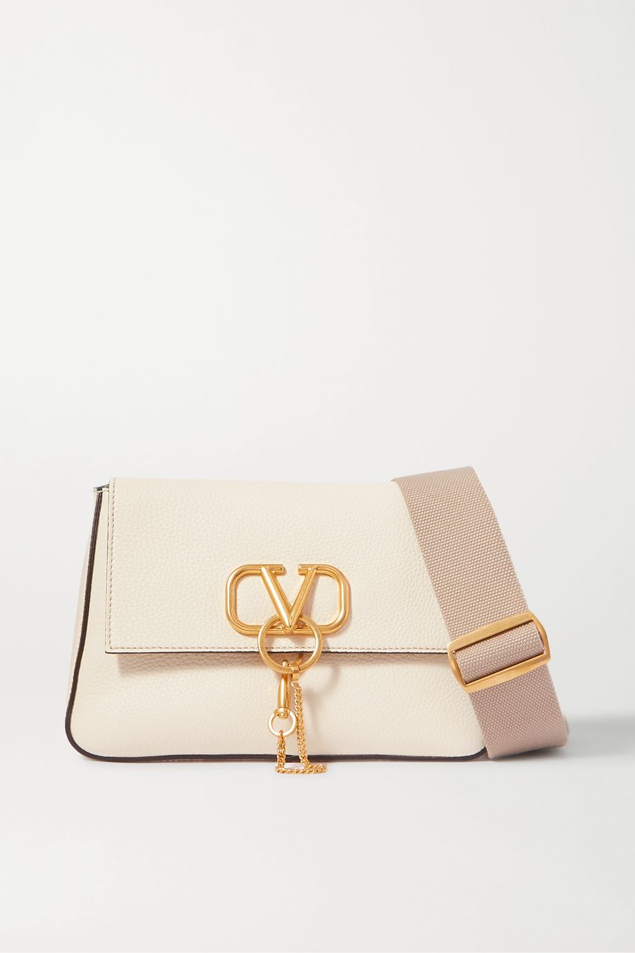 Valentino Valentino Garavani VRING textured-leather shoulder bag