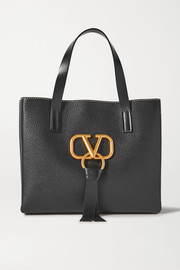 Valentino Garavani VRING small textured-leather tote