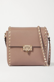 Valentino Valentino Garavani Rockstud small textured-leather shoulder bag