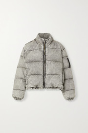Alexander Wang Quilted padded acid-wash denim jacket