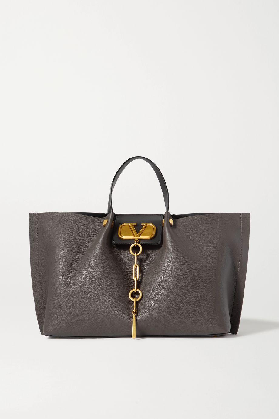 Valentino Valentino Garavani Go Logo Escape medium textured-leather tote