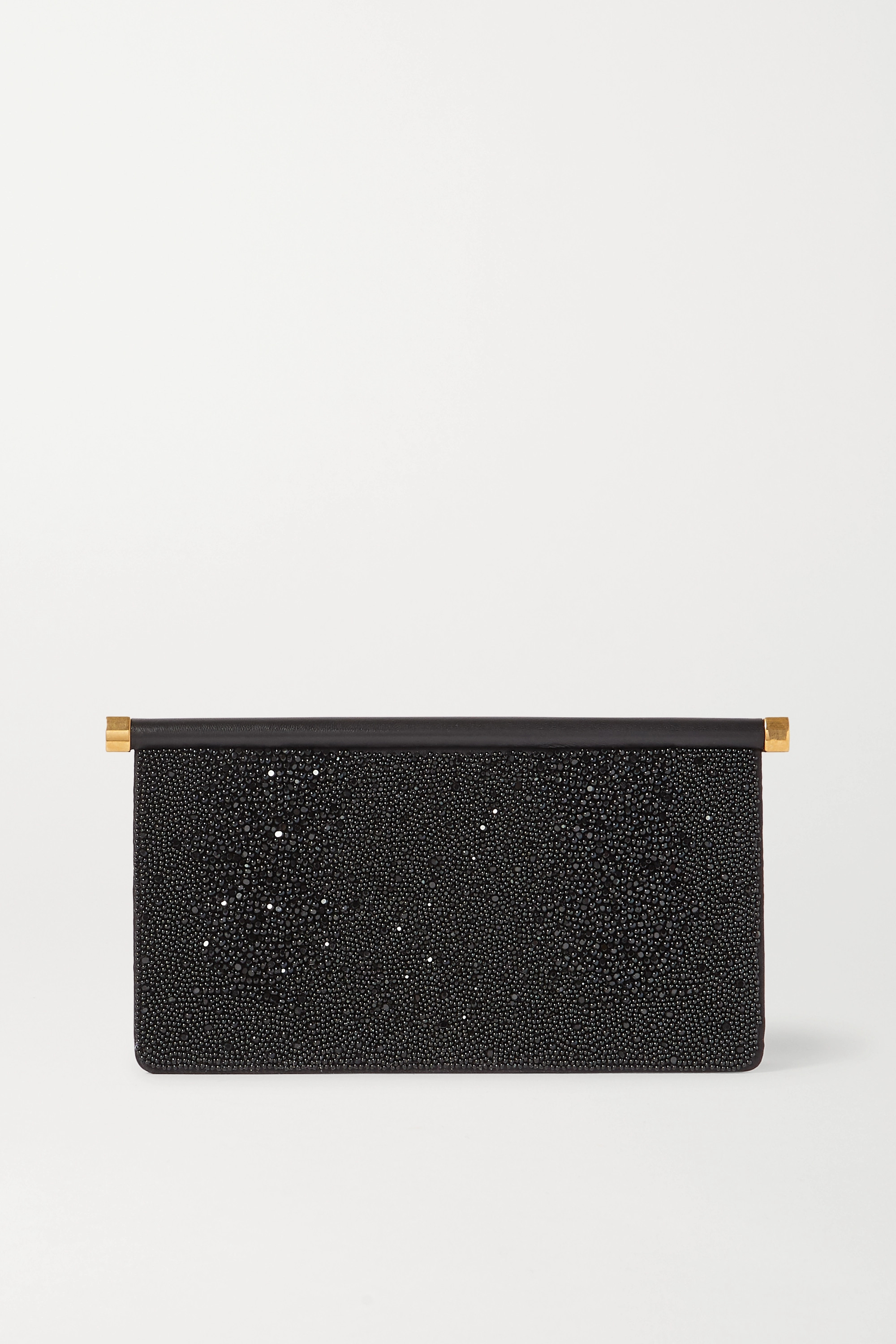 Valentino Valentino Garavani Carry Secrets beaded leather clutch