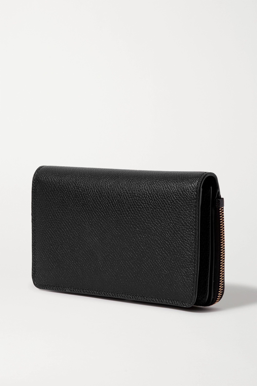 Valentino Valentino Garavani VSLING textured-leather wallet