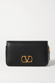 Valentino Garavani VSLING textured-leather wallet