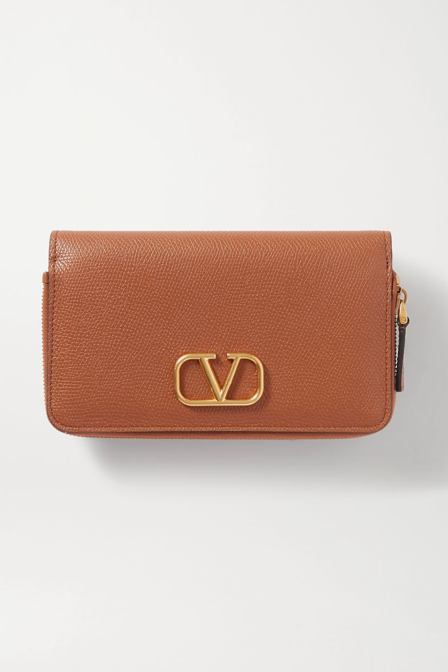Valentino Valentino Garavani VSLING textured-leather wallet
