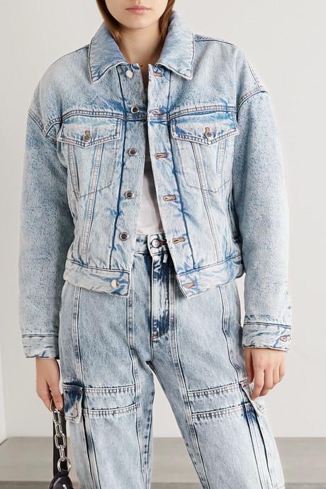 Padded denim jacket