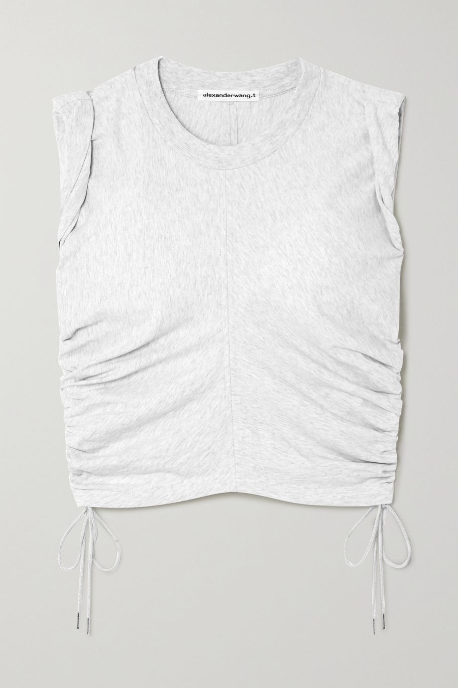 alexanderwang.t Wash and Go cropped ruched cotton-jersey tank
