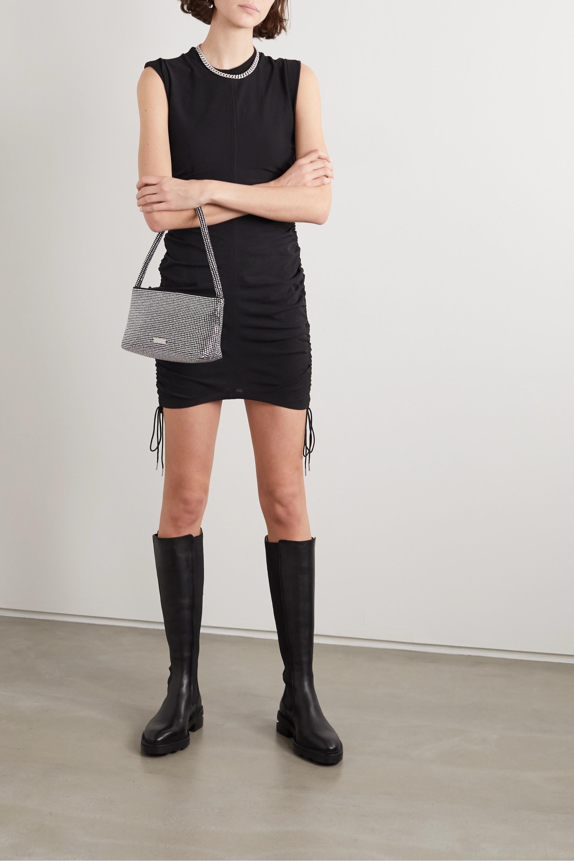 alexanderwang.t Wash and Go Minikleid aus Baumwoll-Jersey mit Raffungen