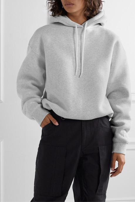 Stretch-cotton jersey hoodie