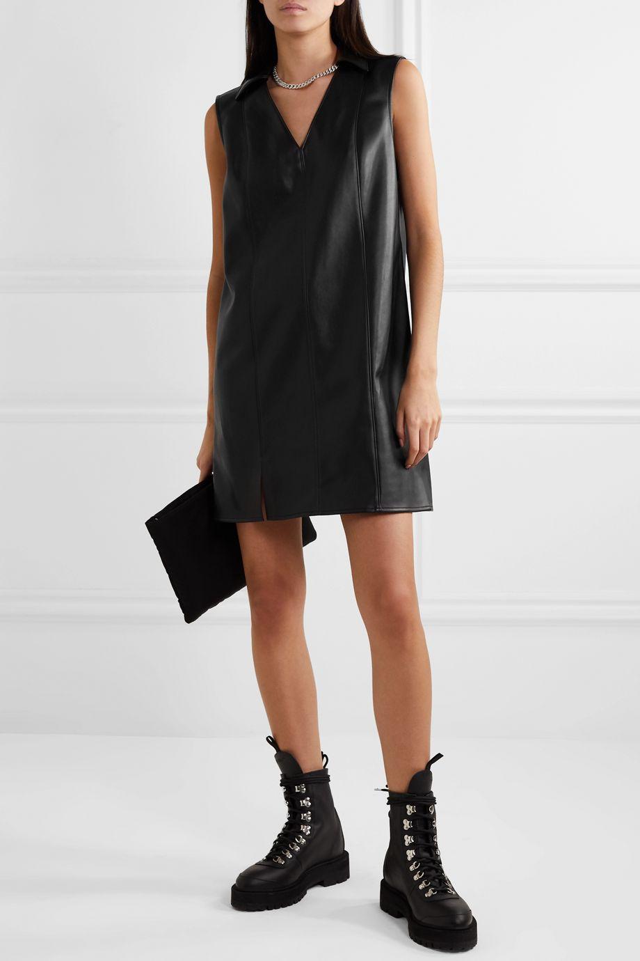 alexanderwang.t Faux leather mini dress
