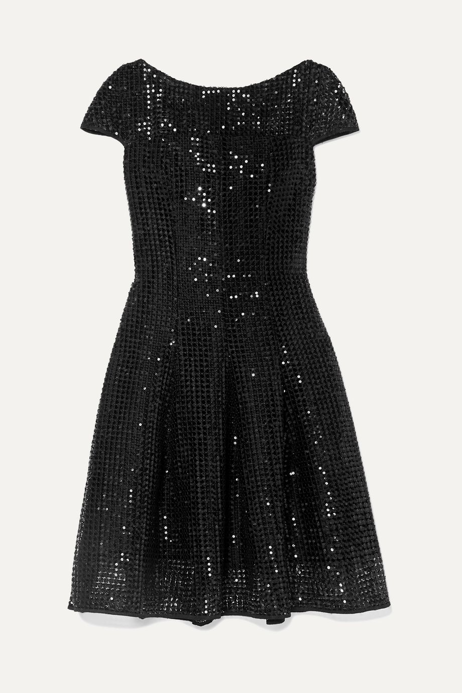 Talbot Runhof Noix sequined macramé dress