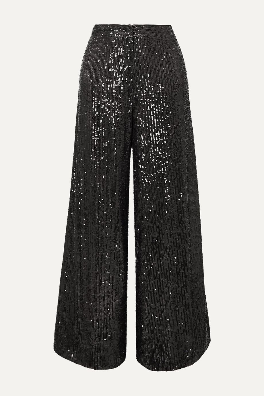 Talbot Runhof Gilia sequined tulle wide-leg pants