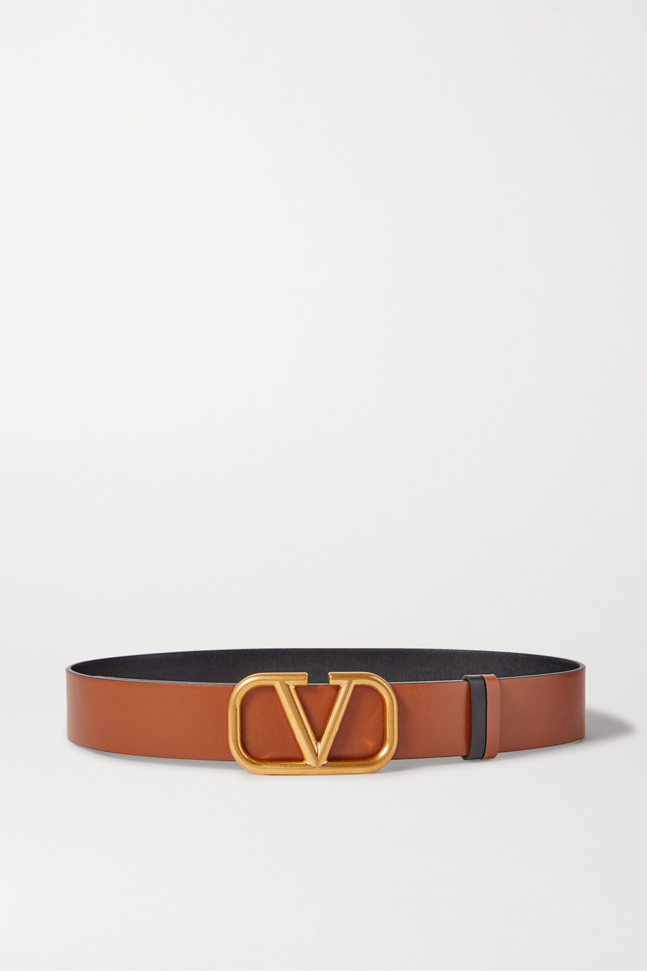 Valentino Valentino Garavani VLOGO reversible leather belt
