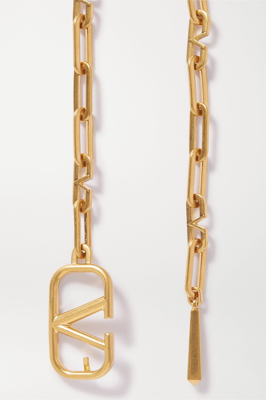 Valentino Valentino Garavani gold-tone belt