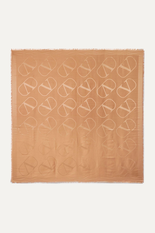Valentino Valentino Garavani Jacquard-Tuch aus einer Seiden-Wollmischung