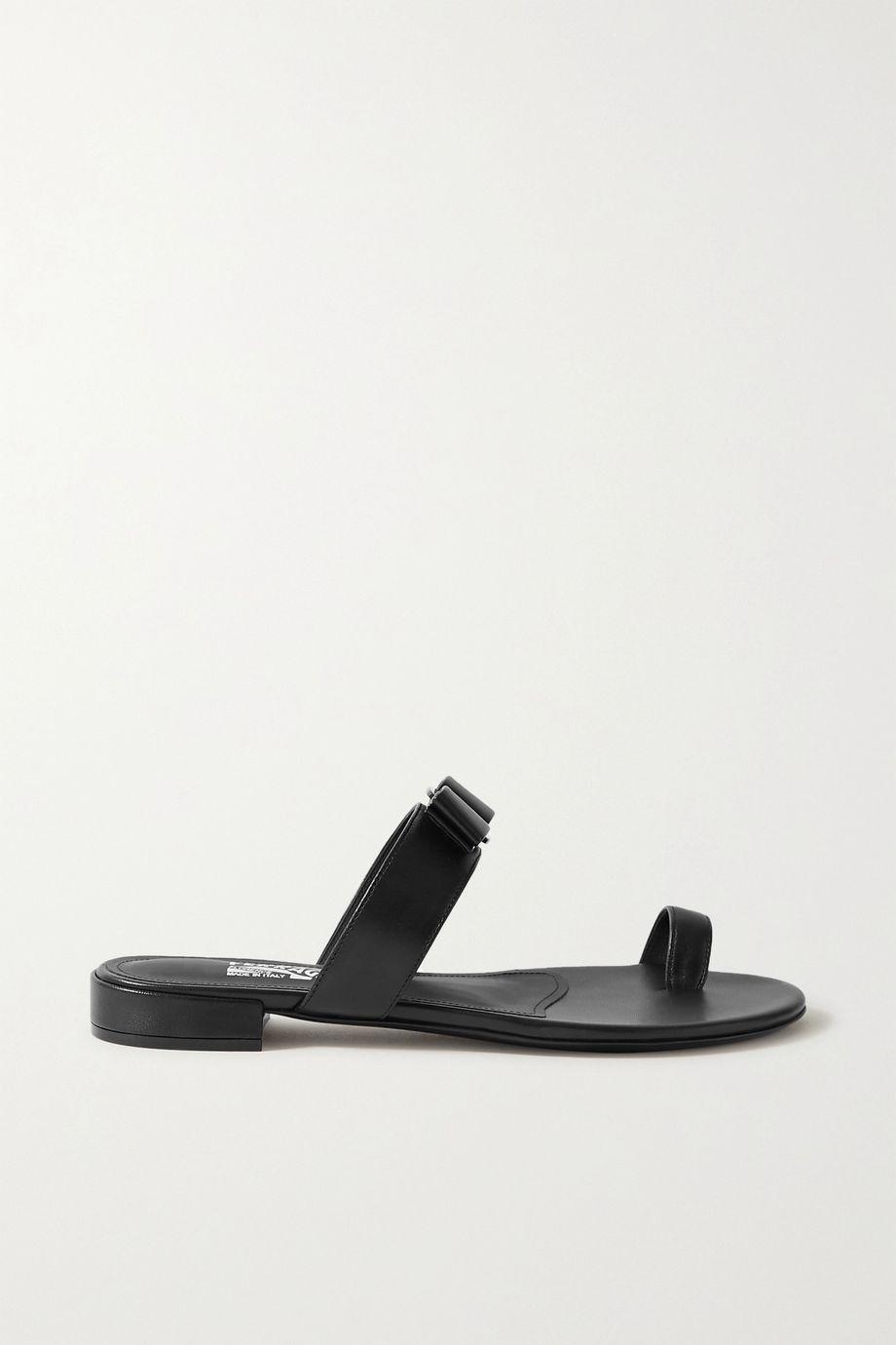 Salvatore Ferragamo Louisa bow-embellished leather slides