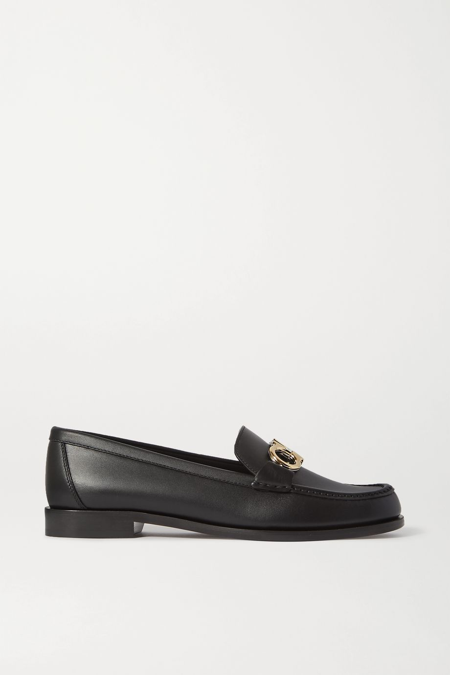 Salvatore Ferragamo Rolo embellished leather loafers