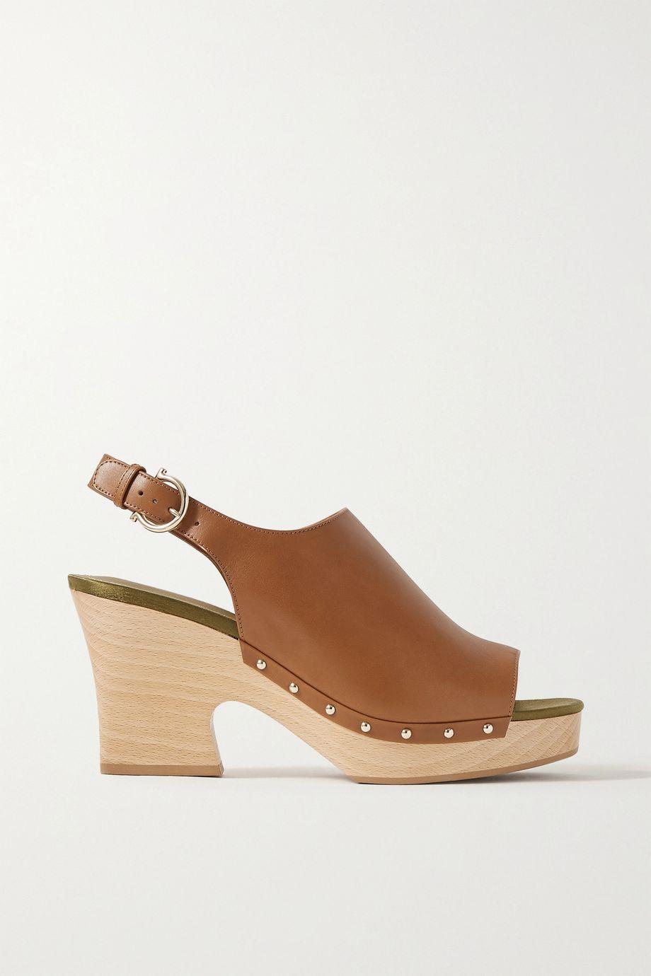 Salvatore Ferragamo Susanne leather slingback sandals