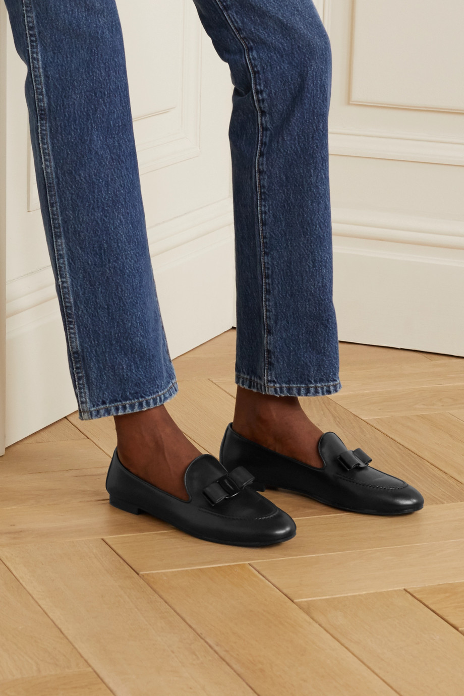 Salvatore Ferragamo Lesley bow-embellished leather loafers