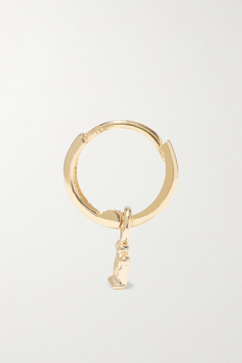 Alison Lou Crown Huggy 14-karat gold earring