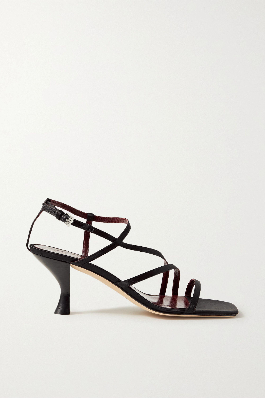 STAUD Gita satin sandals