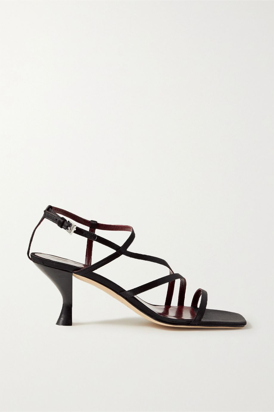 STAUD Gita satin sandals