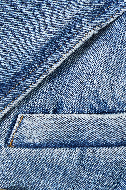 Balmain Double-breasted belted denim blazer