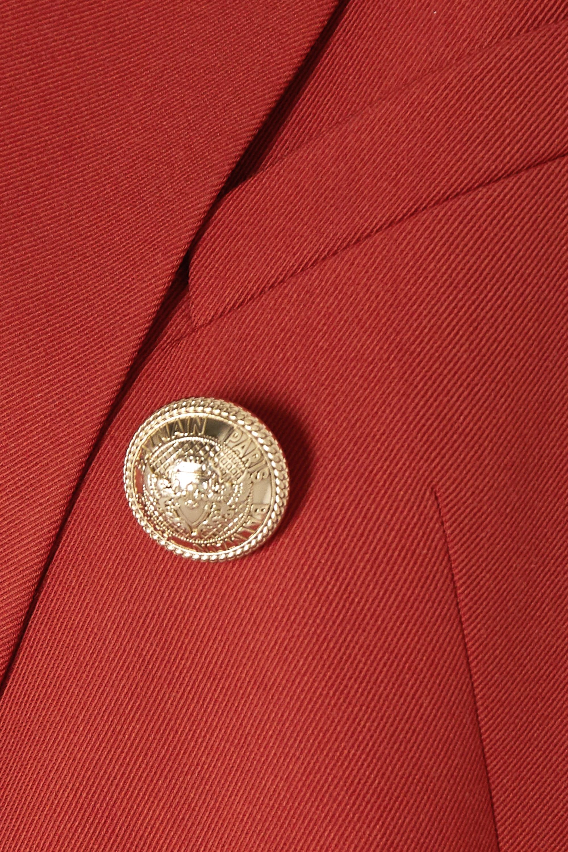 Balmain Double-breasted twill blazer