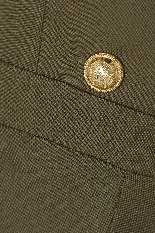 Balmain Buttoned-embellished wool jumpsuit