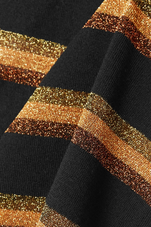 Balmain Button-embellished Lurex-trimmed wool sweater