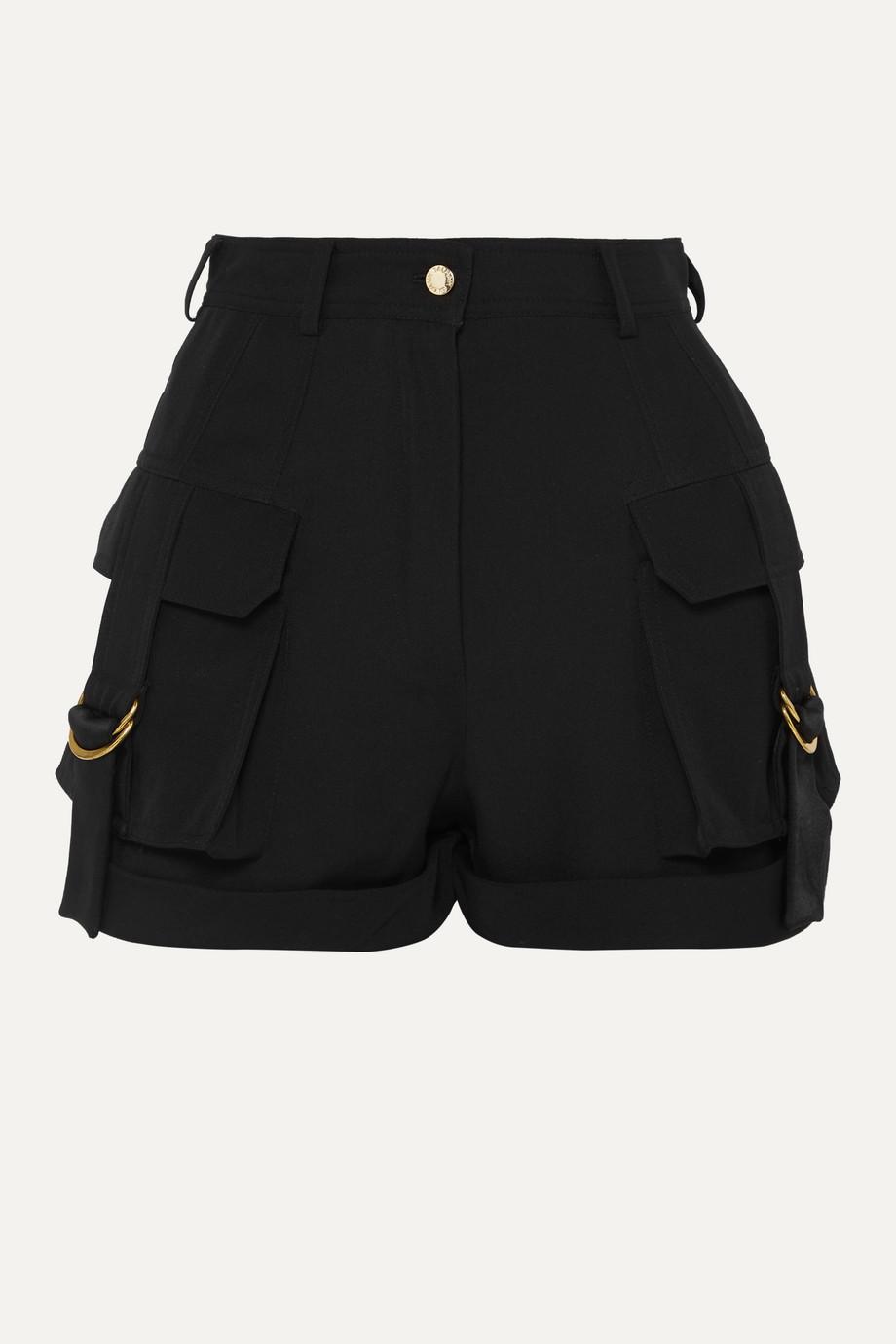 Balmain Grain de poudre wool shorts