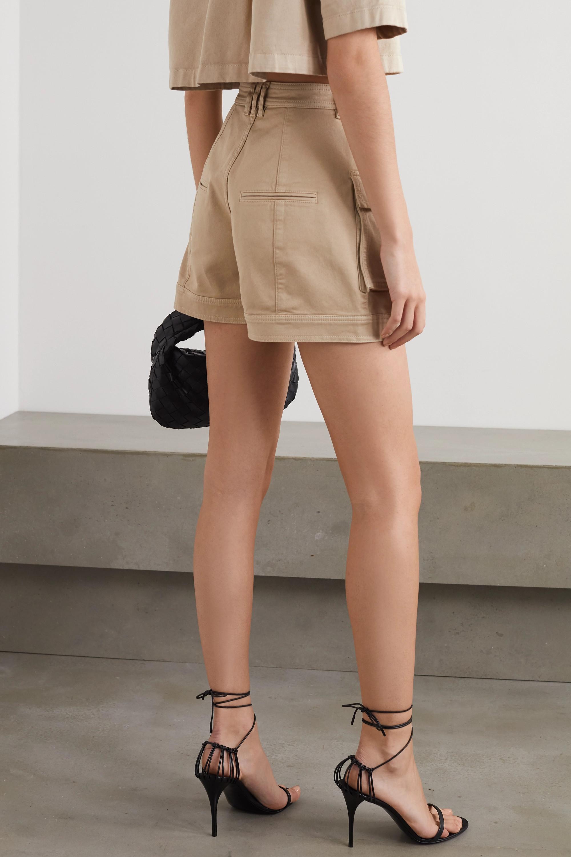 Balmain Cotton-blend drill shorts