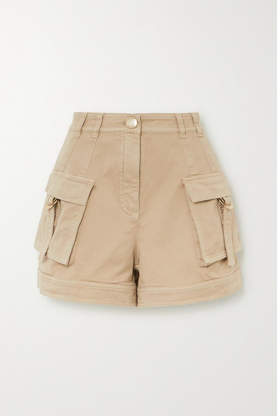 Balmain Shorts aus Drillich aus einer Baumwollmischung
