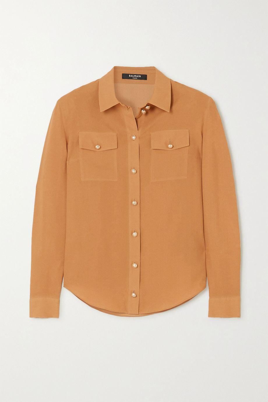 Balmain Silk crepe de chine blouse