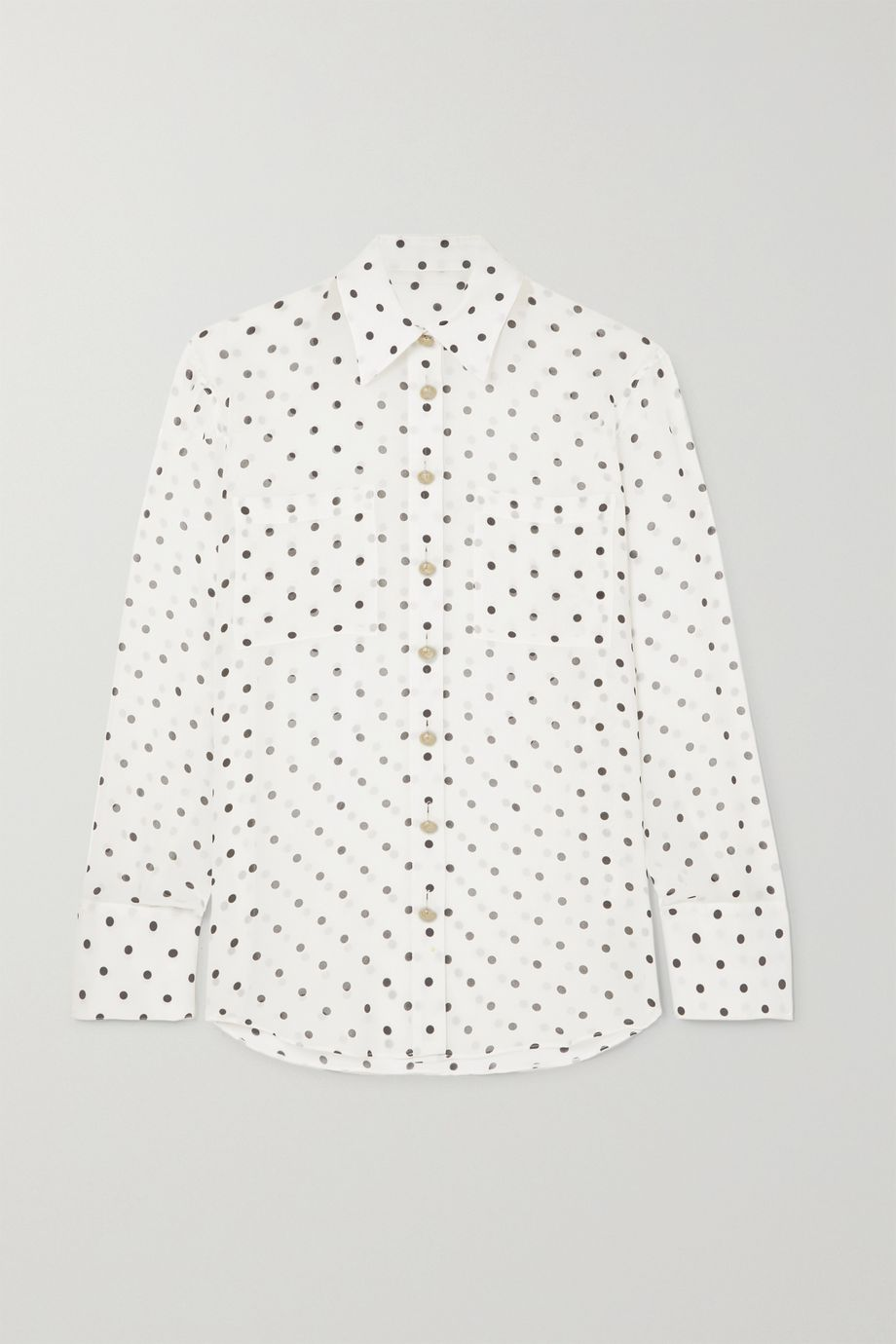 Balmain Polka-dot silk-georgette blouse