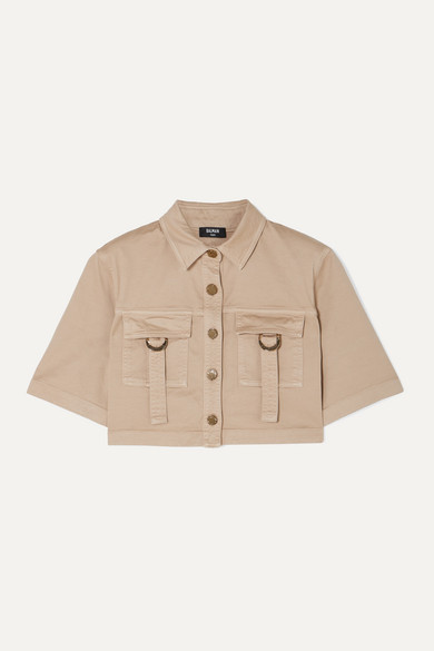 Balmain Shirts Cropped denim shirt